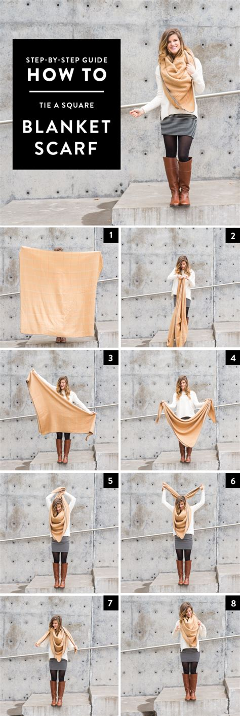 how to tie a square scarf step by step photo guide