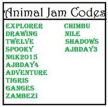 animal jam 2016 codes list animal jam codes gems and diamonds and birthday cakes