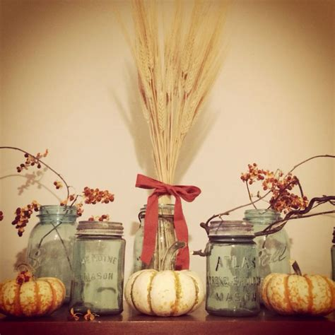 fall decor with jars the leaves are quot falling - Decorating With Jars For Fall