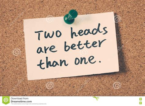 Two Boyfriends Are Better Than One by Two Heads Are Better Than One Stock Image Image Of