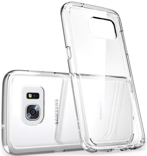 Samsung S6 S7 Flat Edge Clear Stand Casing Cover Bumper best clear cases for the galaxy s7 edge android central