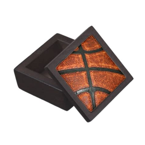 basketball pattern premium trinket box zazzle