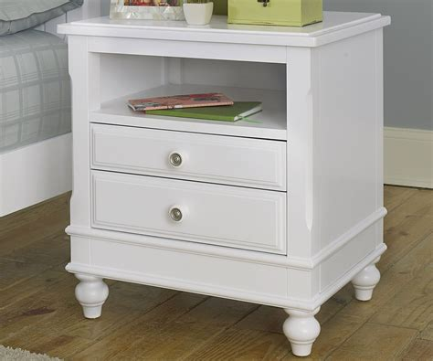 White Nightstands Lakehouse White Finish Nightstand Nightstands Ne