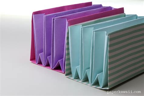 How To Make Paper Folders - expanding origami folder paper kawaii