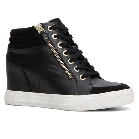 aldo sneakers lyst aldo ottani lace up trainers in black