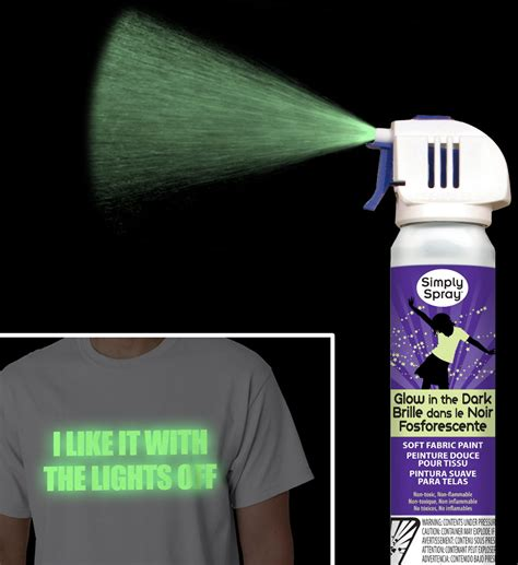 glow in the paint for t shirts simply spray glow in the fabric paint