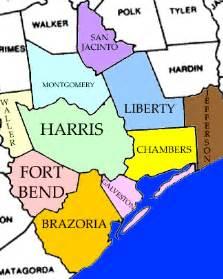 Counties Around Houston Tx County