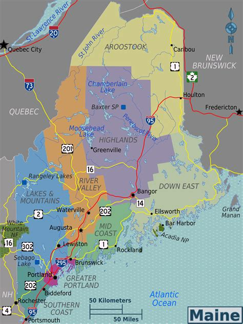 map of maine usa large regions map of maine state maine state large
