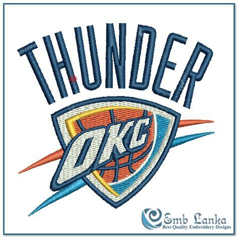 okc thunder home decor oklahoma city thunder logo 14 oklahoma city thunder logo embroidery design emblanka com