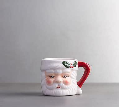 santa shot figural mug set   pottery barn