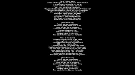 black beatles lyrics full lyrics black beatles rae sremmurd featuring gucci