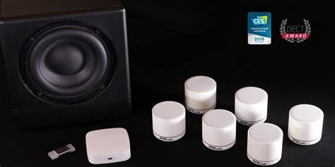 wireless surround sound speaker system requires no power