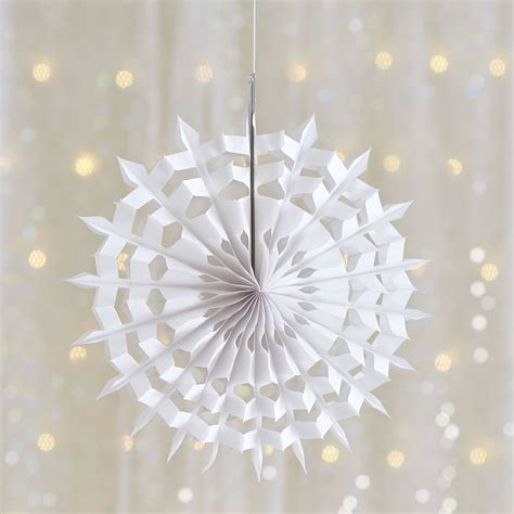 wilko christmas decoration white paper snowflake small at