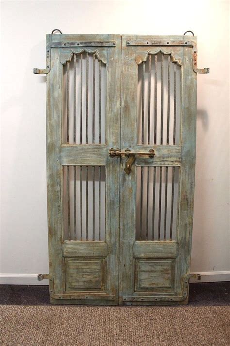 Reclaimed Antique Architectural Salvage Door W Wrought Salvage Barn Doors