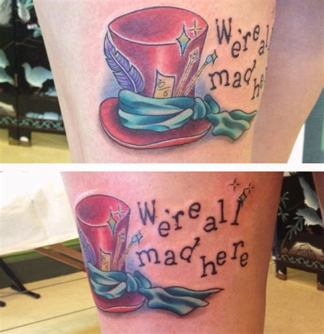 dekalb tattoo company we re all mad here done by em becker at dekalb