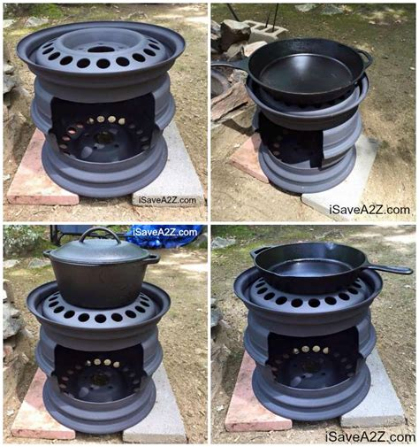 Portable Fireplace by Diy Wood Stove Made From Tire Rims Isavea2z Com