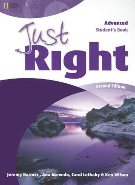 just a second books just right edition second edition student book