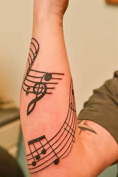 tattoo near arm 25 best ideas about music staff tattoo on pinterest