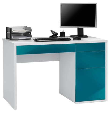 Maja Club White Petrol Computer Desk Computer Desk In White