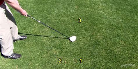 golf swing inside out practice using feedback part i the three tee drill for