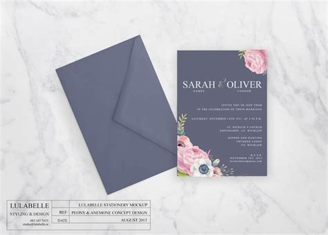 anemone wedding invitations lulabelle peony anemone wedding invitation www lulabelle