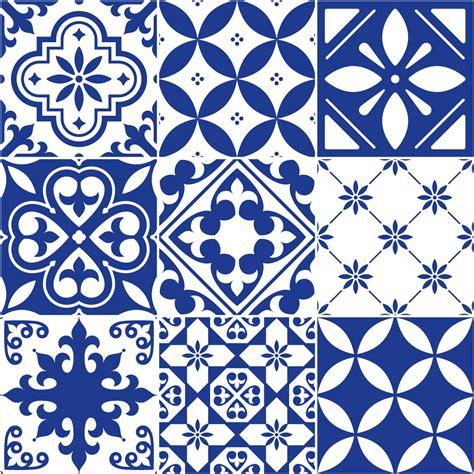 Wallpaper Sticker Vintage Flower 45 Cm X 10 Mtr Wall Stiker 9 stickers carrelages azulejos ornements bleu 233 gyptien