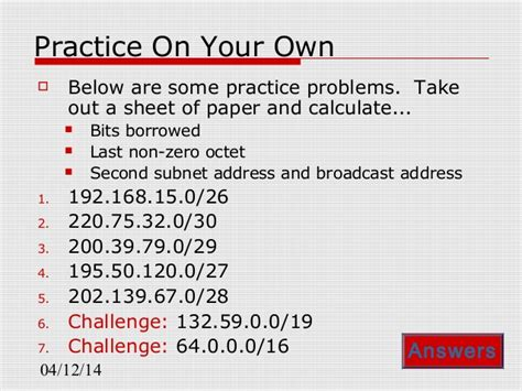 subnetting tutorial questions ip subnetting questions tutorial with answers subnetting