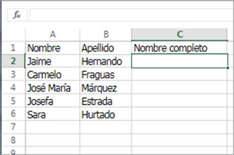 funcion concatenar cadenas en c combinar dos o m 225 s columnas utilizando la funci 243 n