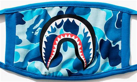 Bape Abc Camo Shark Blue prepare for winter with bape s abc camo shark masks
