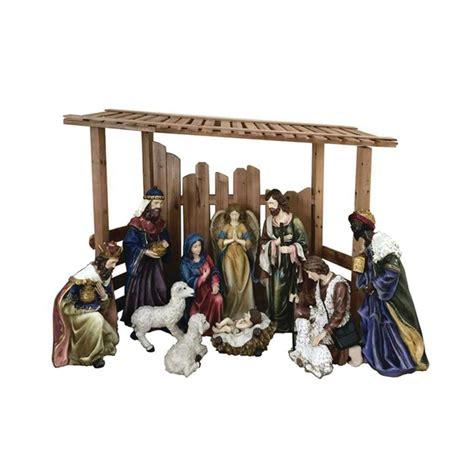 outdoor nativity set  creche  piece