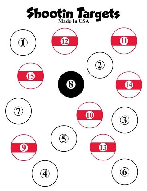 printable targets 8 5 x 11 100 pool ball paper shooting targets 8 5x11 free shipping