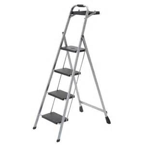 4 step steel mini step stool ladder with project