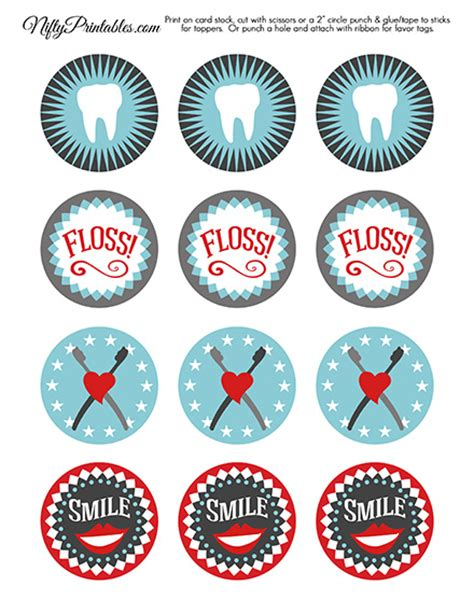 Shopa Top Dds printable dental cupcake toppers dental hygienist