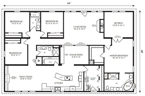 Large Ranch Floor Plans Large Modular Home Floor Plans New Modular Homes Floor Plans On Ranch Modular Home Floor