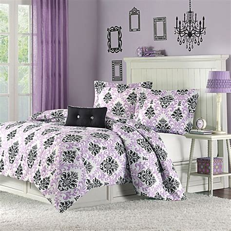 Buy Mizone Katelyn Full Queen Comforter Set In Purple From