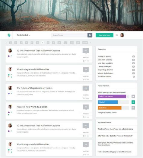 Forum Website Template Forum Templates Themes Free Premium Free Premium Templates