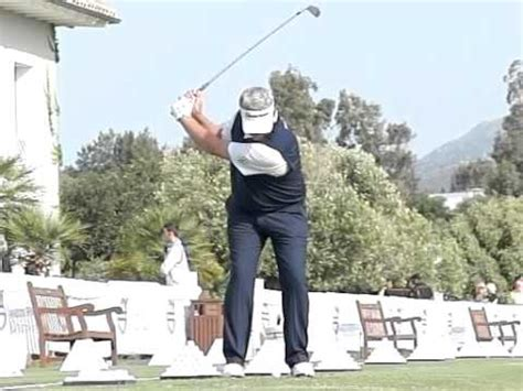 darren clarke golf swing darren clarke golf swing iron slow motion volvo world