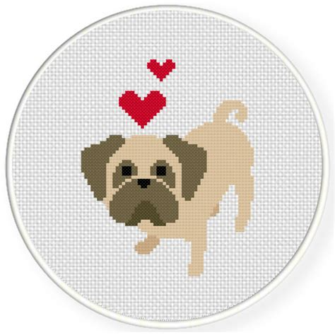 pug cross stitch charts club members only pug cross stitch pattern daily cross stitch