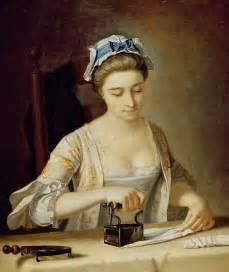 1750s henry robert morland british painter 1716 1797 woman ironing