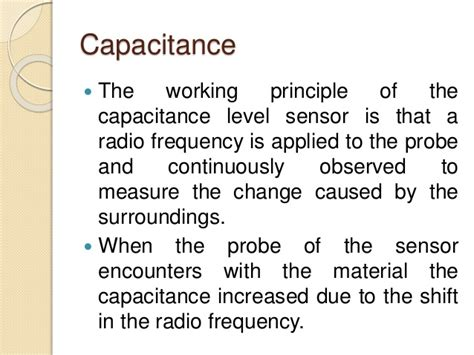 capacitance meter principle industrial level measurement