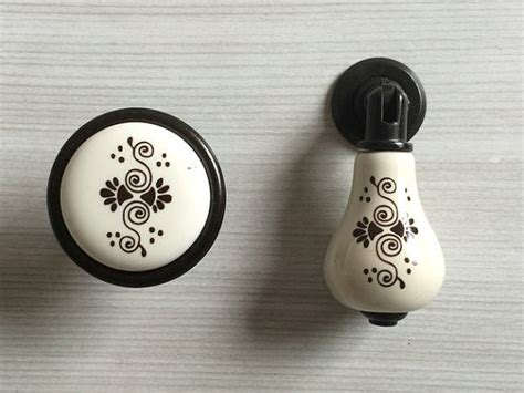 black and white knobs blossom dresser knobs ceramic knobs pulls handle