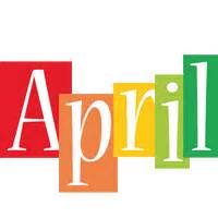 what color is april april logo name logo generator smoothie summer birthday kiddo colors style