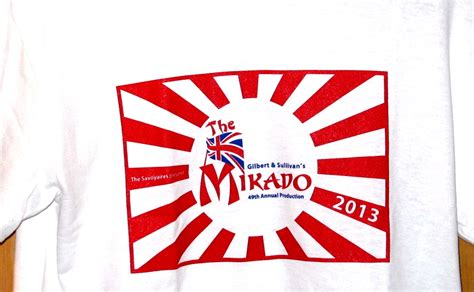 T Shirt Mikado the mikado t shirt 2013