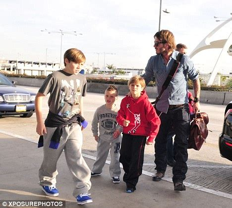 The Beckhams Arrive In Los Angeles by David Beckham Takes His California Boys For A Ride Along