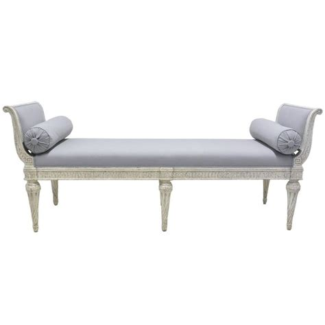 19th century louis philippe painted banquette bench settee