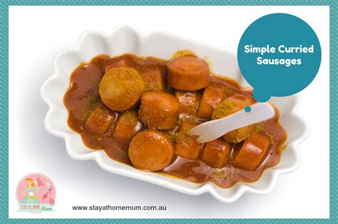 simple curried sausages recipe stay  home mum