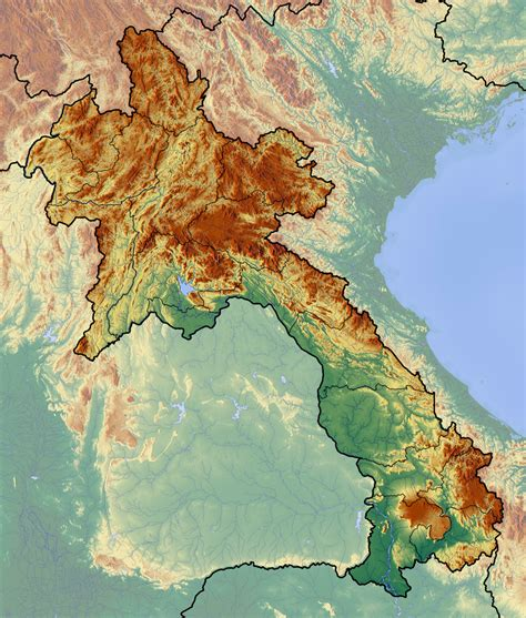 map of laos xayaburi dam