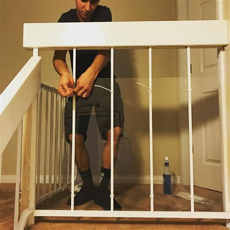 baby proofing banisters baby safety installation on stair banister baby safe homes