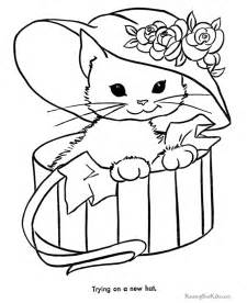 free printable animal coloring pages printable animal coloring pages cat