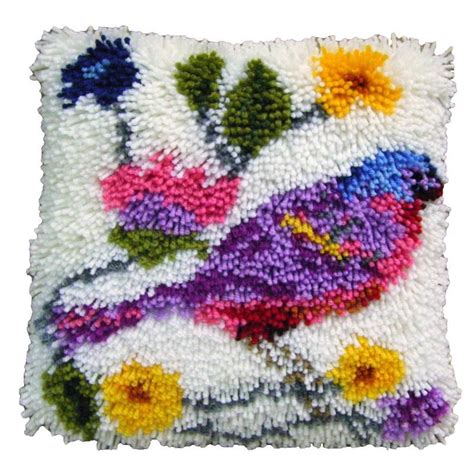 latch rug kits hobbycraft bird latch hook rug kit 30 x 30 cm 15 bundles yarn canvas decoration ebay